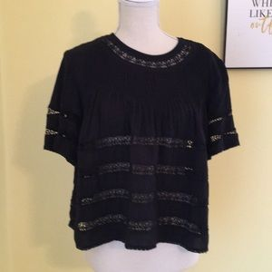 Wilfred Crochet Detail Swing  Blouse Size:Small